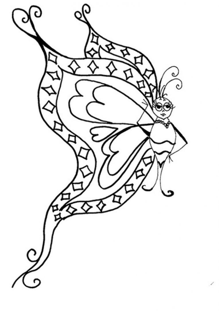 Galería De Imágenes Dibujos De Mariposas Para Colorear