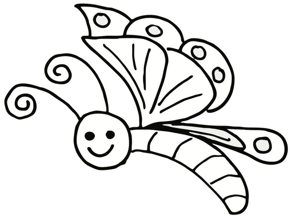 Dibujo infantil de una mariposa  Imgenes y fotos