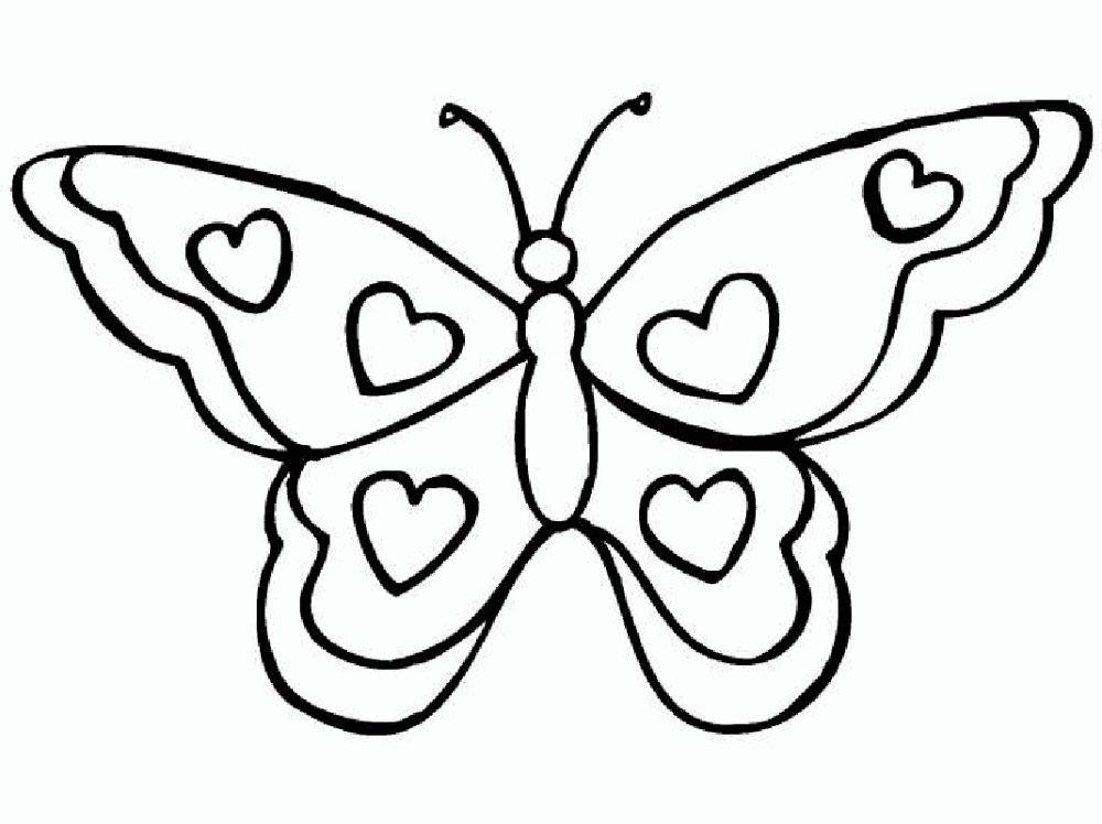 Mariposa con alas de corazones :: Imágenes y fotos
