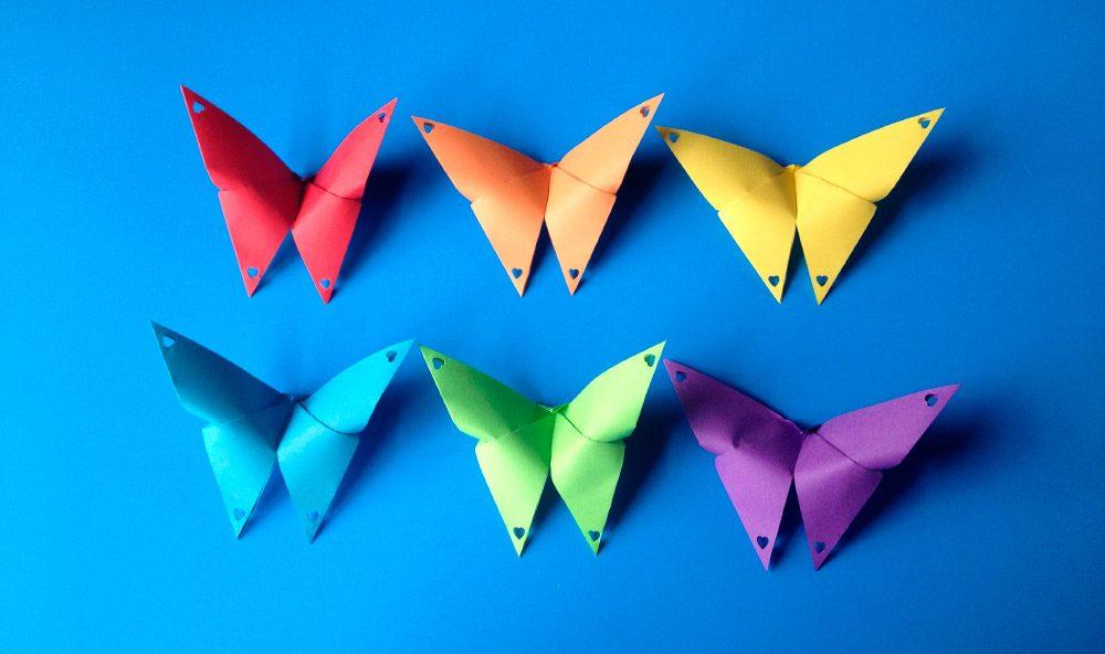 Papiroflexia de mariposas